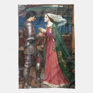 Tristan och Isolde vid den John William Kökshandduk