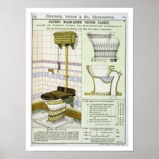Triton garderob från en katalog av sanitära wares  poster