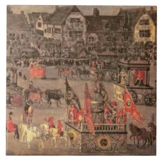 Triumfen av ärkehertiginnan Isabella (1556-1633 Kakelplatta