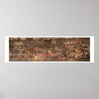 Triumfen av ärkehertiginnan Isabella (1556-1633 Poster