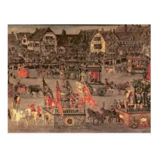 Triumfen av ärkehertiginnan Isabella (1556-1633 Vykort