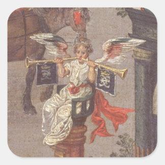 Triumfen av Isabella Fyrkantigt Klistermärke