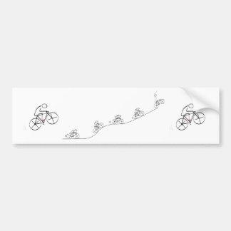 Triumfera cyklist - bildekal