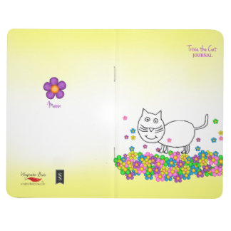 Trixie den fick- journalen för katt anteckningsbok