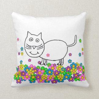 Trixie som katten med blommor kudder kudde