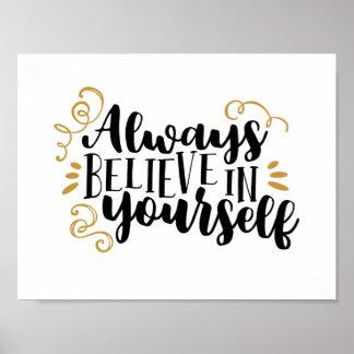 Tro alltid i dig poster