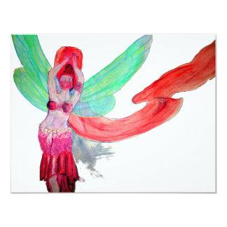 Tro dansfe 10,8 x 14 cm inbjudningskort
