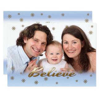 Tro. Den beställnings- julen sänker fotokort 12,7 X 17,8 Cm Inbjudningskort