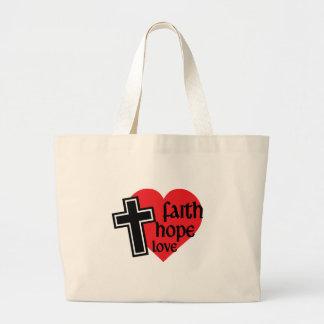 Tro hopp, kärlek hänger lös jumbo tygkasse