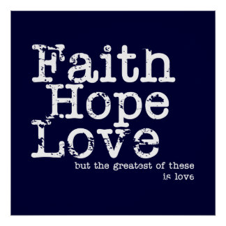 Tro hopp, kärlek poster