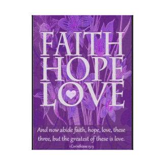 Tro, hopp och kärlek canvastryck