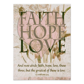 Tro, hopp och kärlek poster