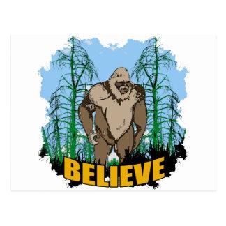 Tro i Bigfoot Vykort