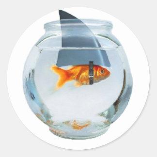 Tro i dig fisken runt klistermärke