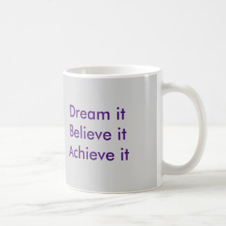 Tro i dig kaffemugg
