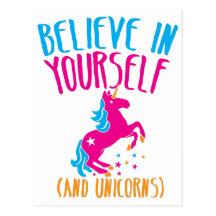 Tro i dig (och unicorns) vykort