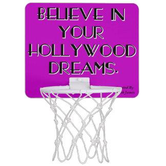 Tro i din ring för Hollywood drömbasket Mini-Basketkorg