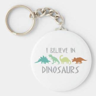 Tro i Dinosaurs Rund Nyckelring