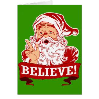 Tro i jultomten hälsningskort