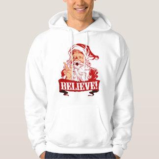 Tro i jultomten sweatshirt med luva