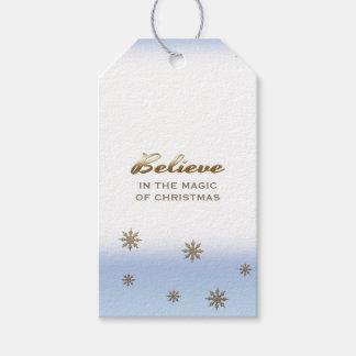 Tro i magin av jul. Gåvamärkre Presentetikett