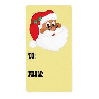 Tro i svart jultomtengåvaetikett fraktsedel
