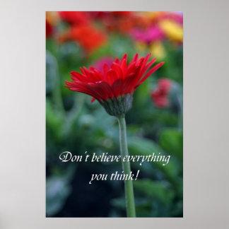 Tro inte allt som du tänker! poster