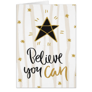 """""""Tro kan du"""" stjärnahälsningkortet Hälsningskort"""