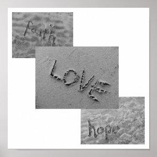Tro kärlek, hopp poster