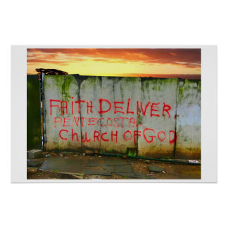 Tro levererar kyrkan poster