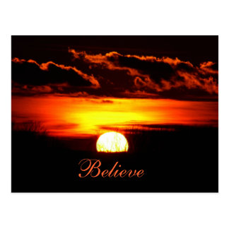 Tro soluppgång vykort