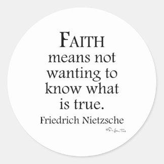 Tro som definieras av Nietzsche Runt Klistermärke