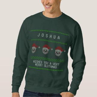 Tröja för jul för roliga Santa Sloths ful