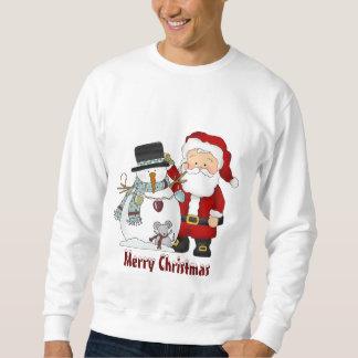 Tröja för jul Santa och snögubbe