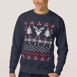 Tröja för Pullover för julPIXELtröja: Red/W