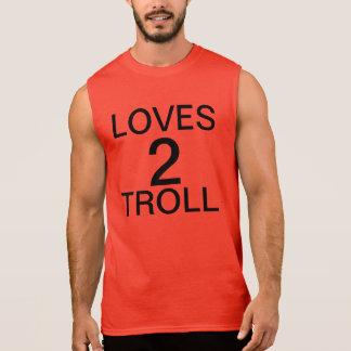 troll för kärlekar 2 sleeveless tröjor