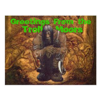 Troll förtöjer hälsningar vykort