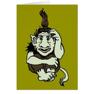 Trollhälsningkort Hälsningskort