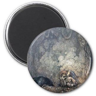 Trollinnehavbarn Magnet Rund 5.7 Cm