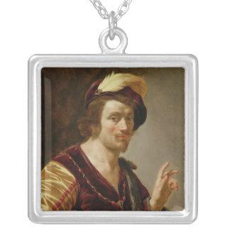 Trolovningen: Brudgummen, c.1630 Silverpläterat Halsband