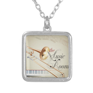 Trombonemusikrum Silverpläterat Halsband