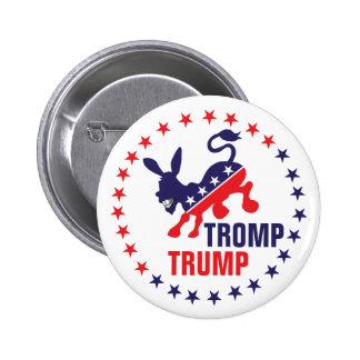 Tromp trumf som sparkar den politiska demokratiska standard knapp rund 5.7 cm