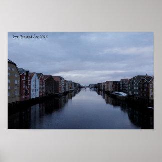 Trondheim - Nidelven - foto Poster