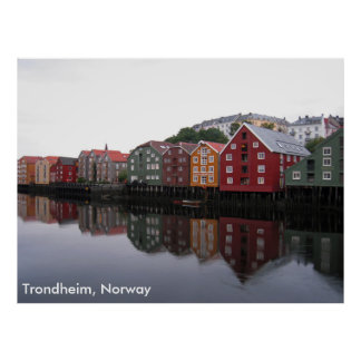 Trondheim norge poster