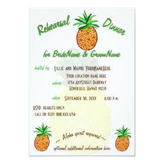 Tropisk ananasHawaii repetition middag 12,7 X 17,8 Cm Inbjudningskort