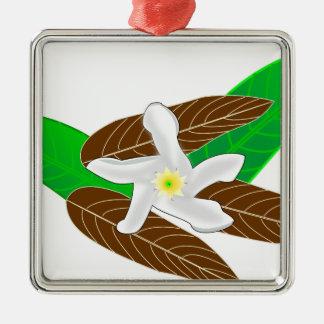 Tropisk blomma julgransprydnad metall