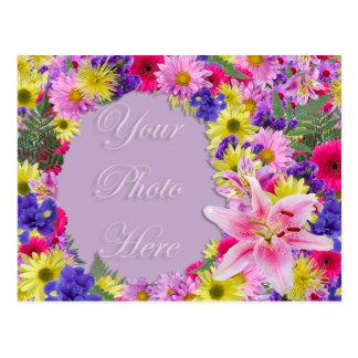 Tropisk blommabildram, strandbröllop vykort