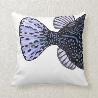 Tropisk Boxfish för blått för korallrevfisk Kudde