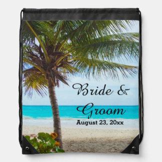 Tropisk bröllopDrawstringryggsäck Ryggsäckar