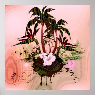 Tropisk design poster